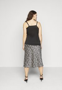 Simply Be - KNOT FRONT HAMMERED - Top - black - 2