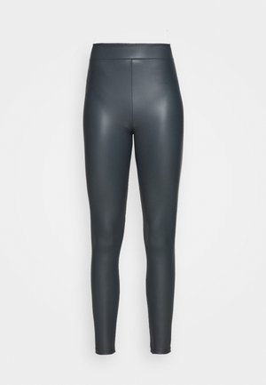 LEATHER LOOK  - Spodnie materiałowe - teal