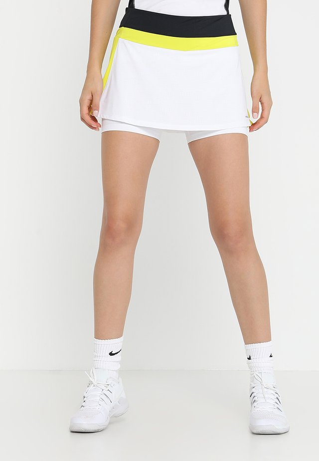 EMMA SKORT  - Rokken - white/yellow