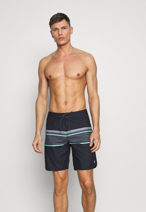 STRIPE - Swimming shorts - black