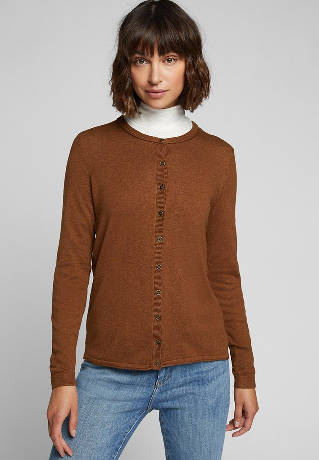 BASIC  - Cardigan - toffee