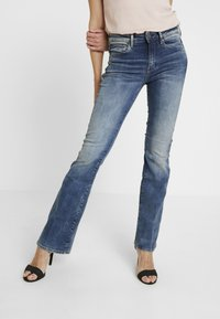 G-Star - 3301 HIGH FLARE - Flared Jeans - medium aged - 0