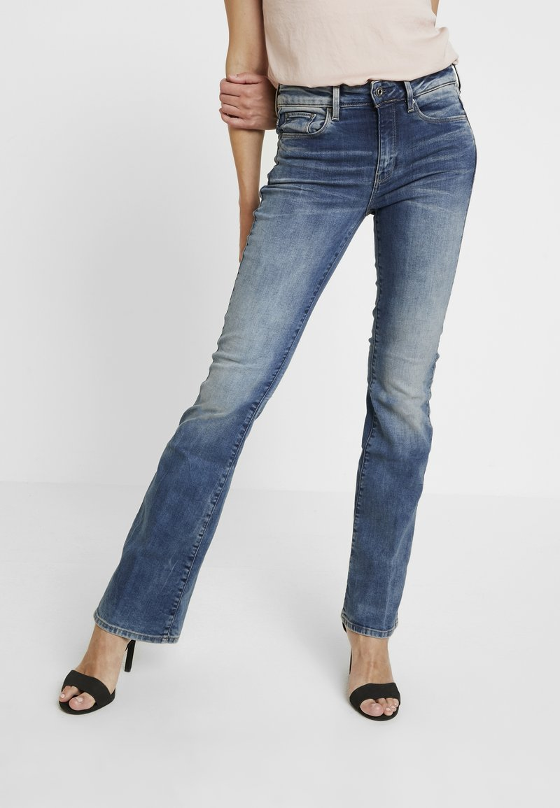 G-Star - 3301 HIGH FLARE - Flared Jeans - medium aged