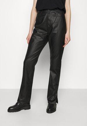 SIDE SPLIT WRATH - Trousers - black
