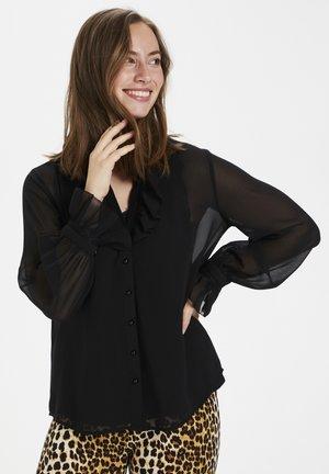 CUDAPHNE BLOUSE - Button-down blouse - black