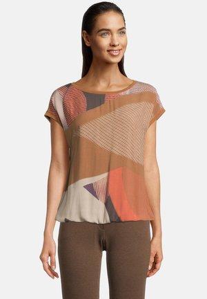 T-shirt print - braun/orange