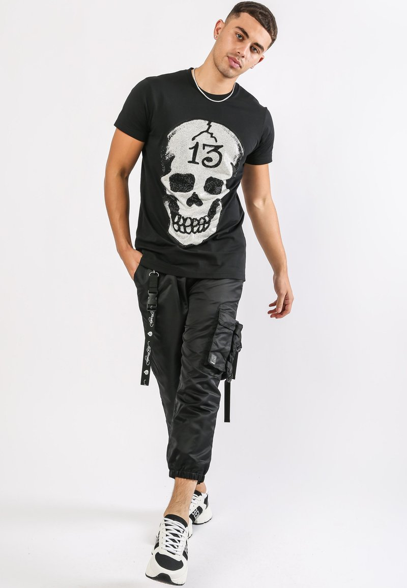 Ed Hardy - SKULL-13 T-SHIRT - T-shirt con stampa - black