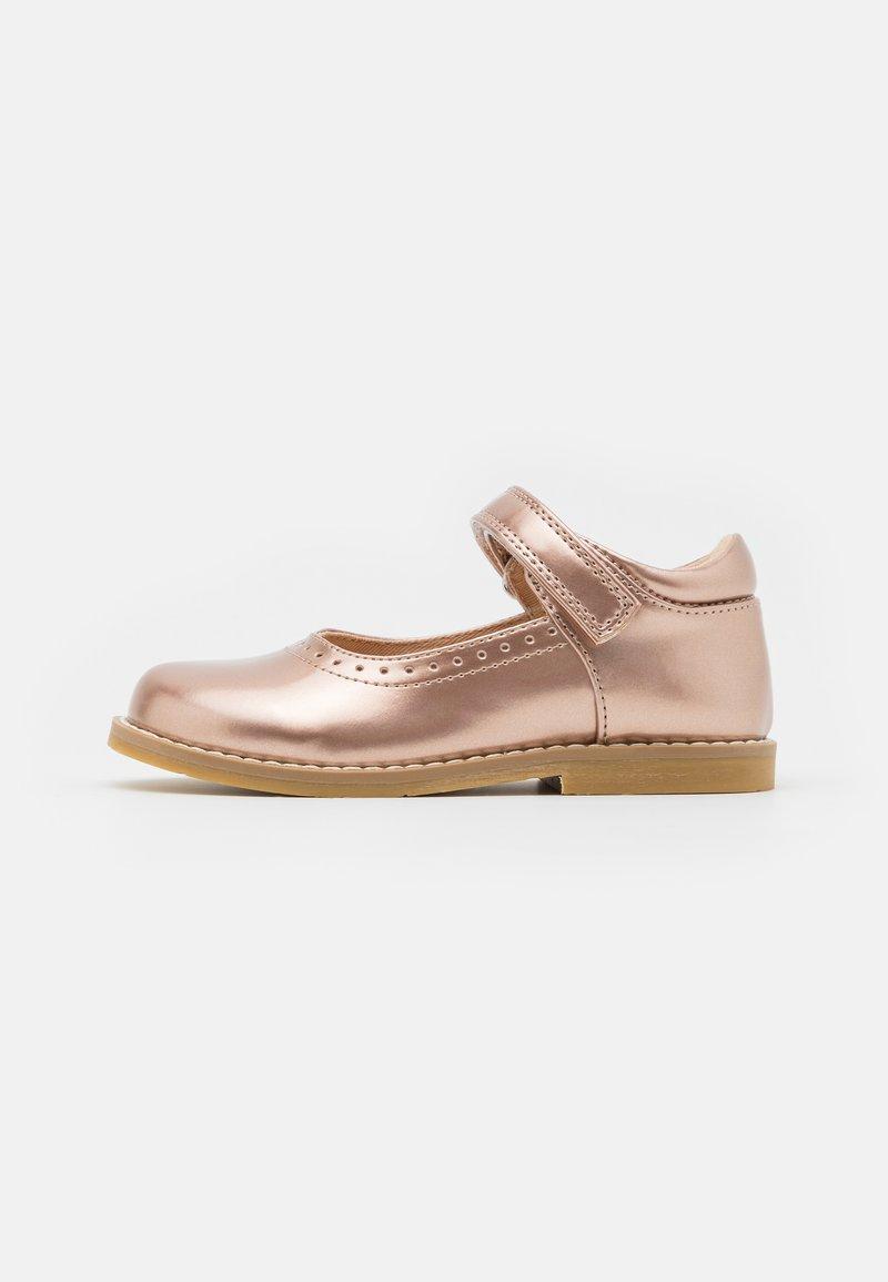 Friboo - Ballerina's met enkelbandjes - bronze