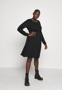 Dorothy Perkins Curve - EMPIRE DRESS - Jerseykjole - black - 1