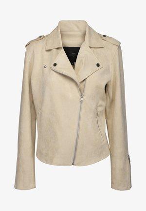 TANIA  - Faux leather jacket - seedpearl cream