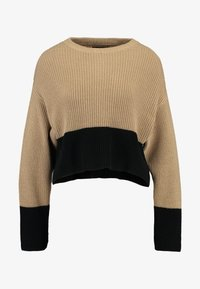 Even&Odd - Neule - sand/black - 3
