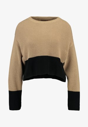 Jumper - sand/black