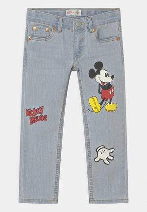 MICKEY MOUSE 511 SLIM UNISEX - Jeans slim fit - light-blue denim