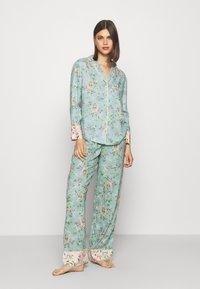 Marks & Spencer London - FLORAL  - Pyjamas - aqua mix - 0