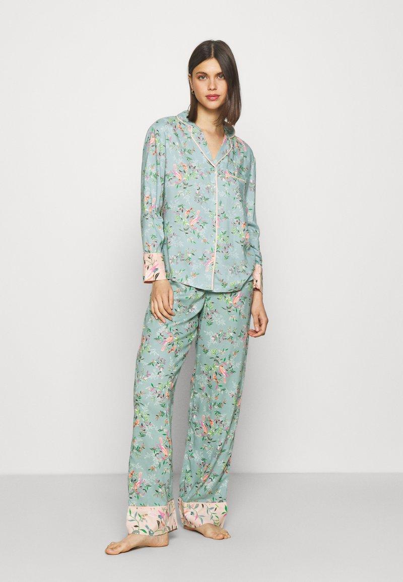 Marks & Spencer London - FLORAL  - Pyjamas - aqua mix