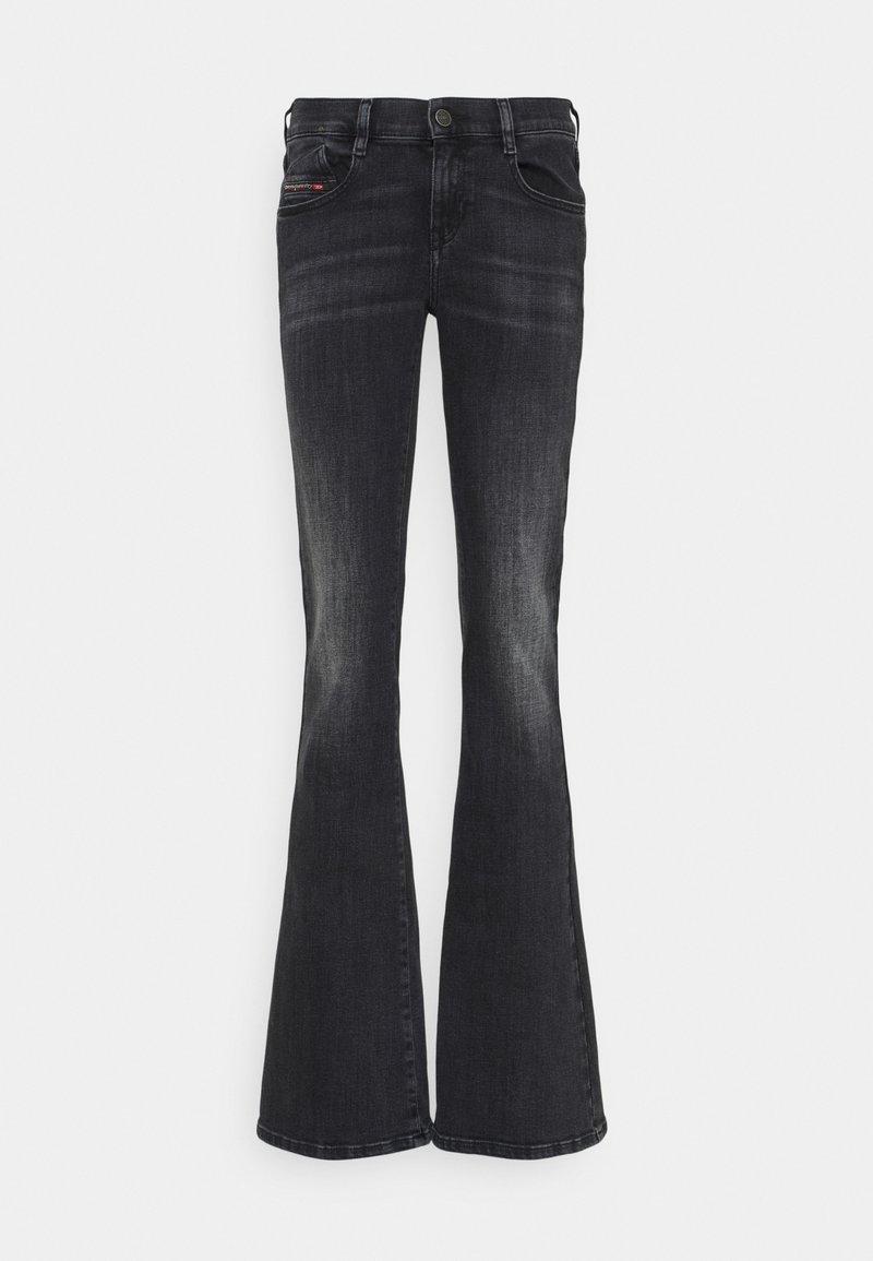 Diesel - D-EBBEY - Flared Jeans - washed black