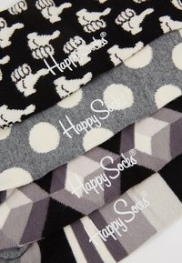 Happy Socks - GIFT BOX 4 PACK - Socks - black/white - 2