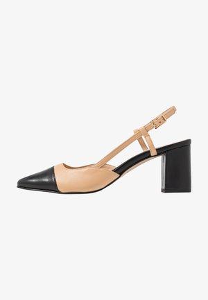 DHAPOP - Classic heels - noir/beige