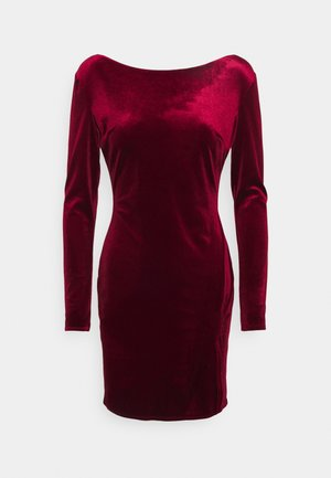 SPLIT DRESS - Shift dress - wine