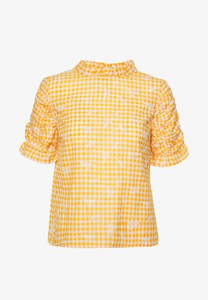 YASMANVI - Blouse - cadmium yellow/star white