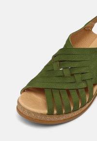 El Naturalista - LEAVES - Wedge sandals - selva - 7