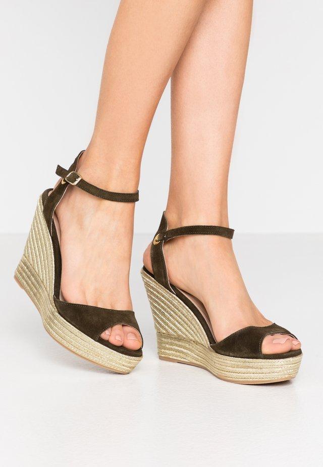 MEIA - Sandály na vysokém podpatku - kaki