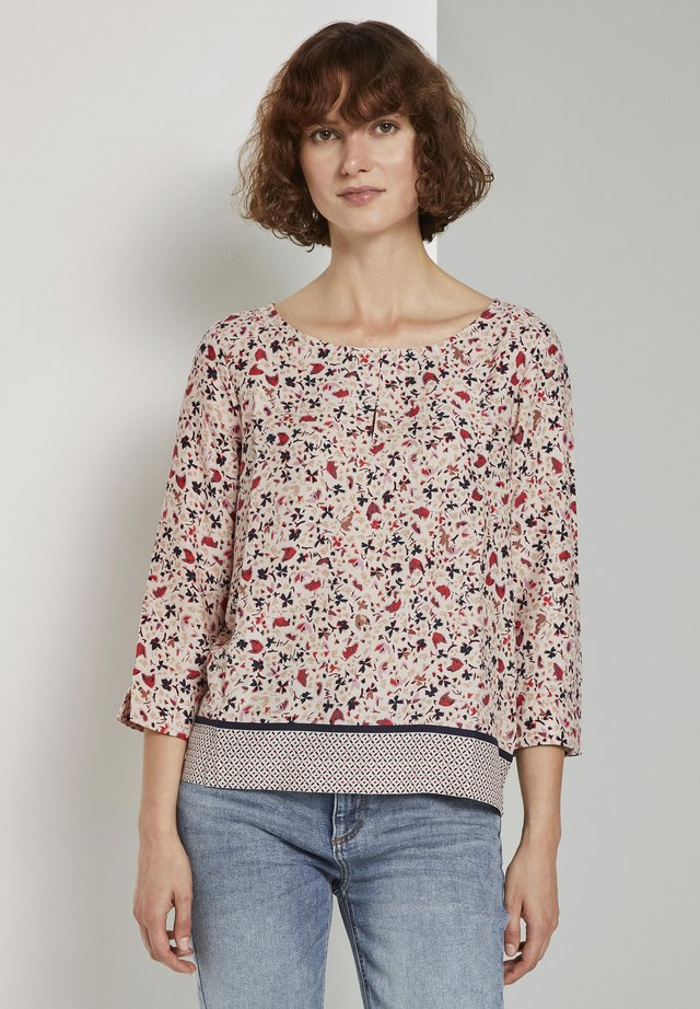 Blouse - beige flower design