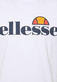 Ellesse - SMALL LOGO PRADO - Print T-shirt - white - 5