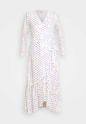 RAINBOW SPOT WRAP DRESS - Kjole - white