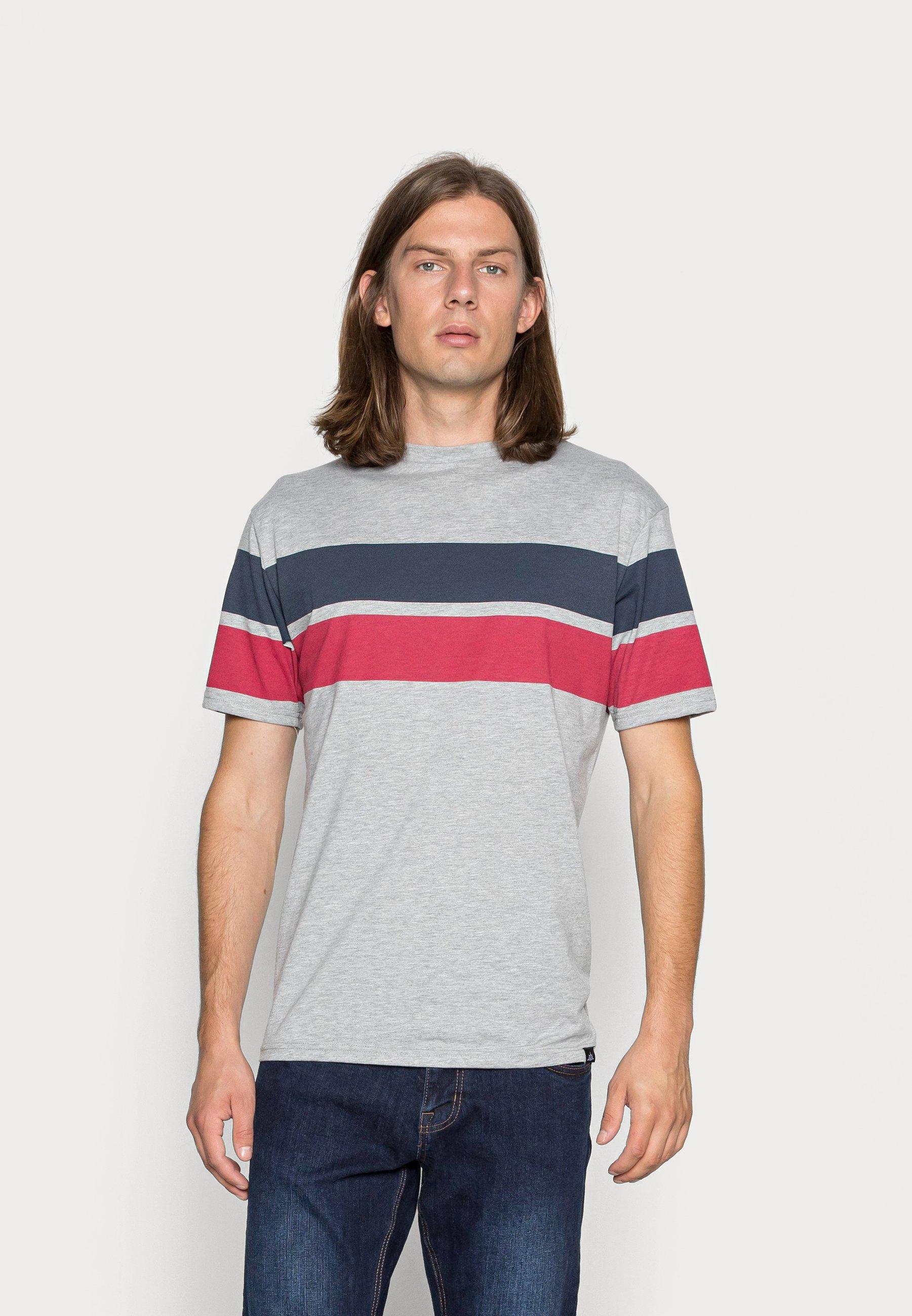 Men BLOCK STRIPE - Print T-shirt