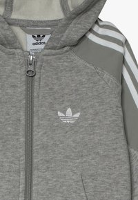adidas Originals - OUTLINE HOODIE SET - Træningssæt - medium grey heather/white - 6