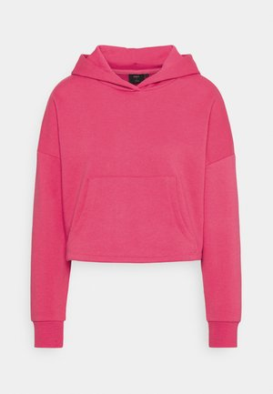 ONYFAVE LIFE CROPPED HOOD - Sweatshirt - rouge red