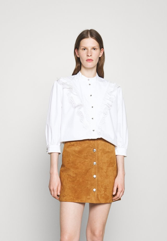 FRILL - Button-down blouse - optic white