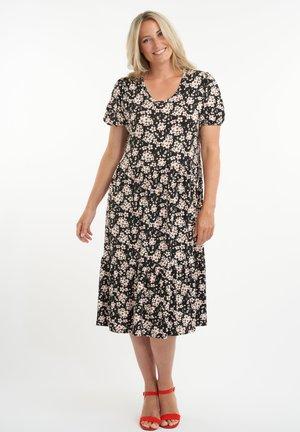 MET BLOEMENPRINT - Jersey dress - multi-black-white