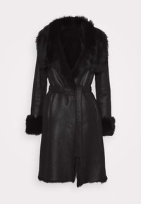 STUDIO ID - FLO SHEARLING COAT - Wollmantel/klassischer Mantel - black - 6