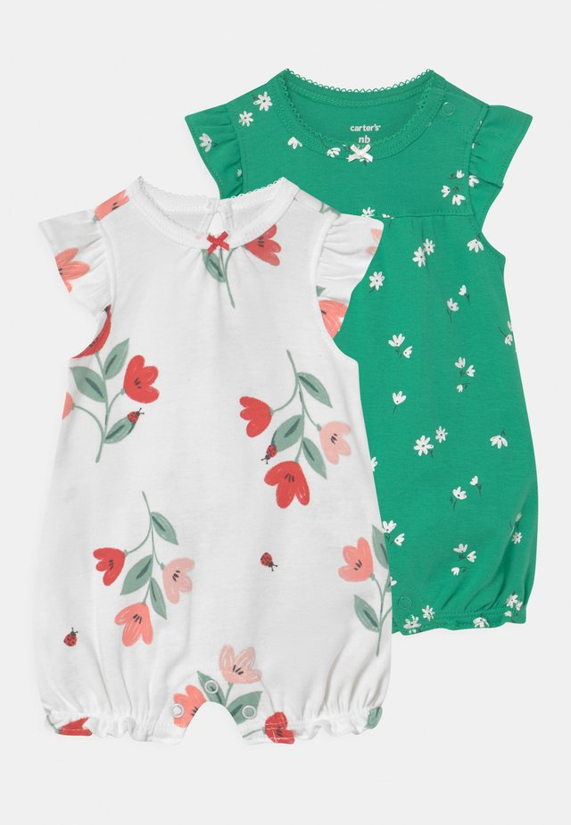 2 PACK - Jumpsuit - green/white