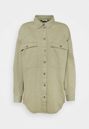 NMFLANNY LONG SHACKET - Košile - oil green