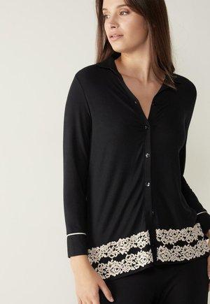 PRETTY FLOWER - Pyjama top - nero/ivory