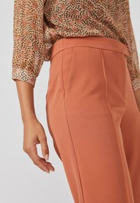 Aaiko - CHANTALLE TWILL VIS 345 - Trousers - toulouse brick - 3