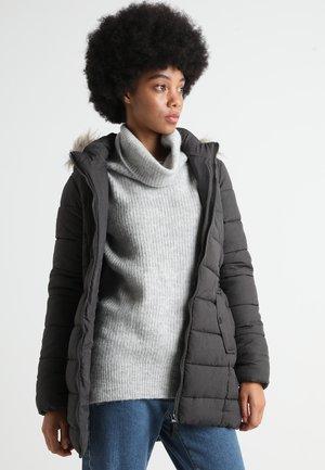 ONLNORTH COAT  - Vinterkåpe / -frakk - black melange