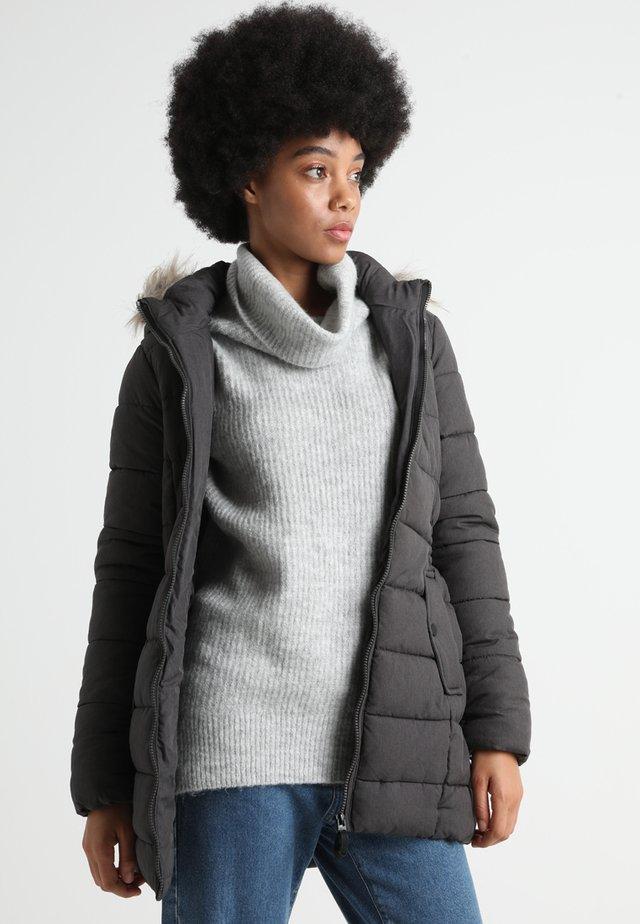 ONLNORTH COAT  - Abrigo de invierno - black melange