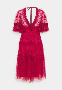 Needle & Thread - LOTTIE MIDI DRESS - Cocktail dress / Party dress - deep red - 1