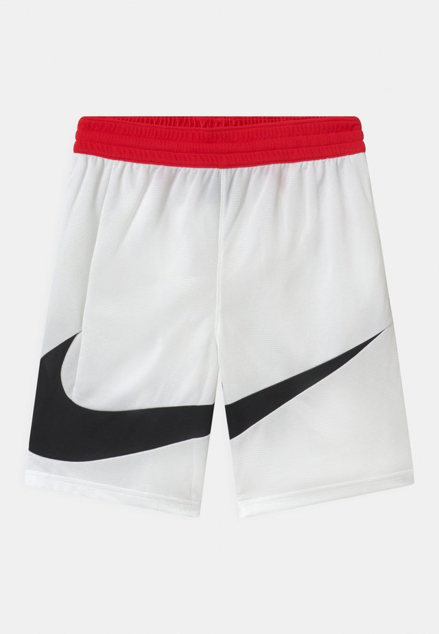 BASKETBALL - Pantaloncini sportivi - white/university red/black