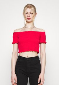 Glamorous - BARDOT 2 PACK - Basic T-shirt - black/red - 3