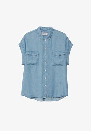 Button-down blouse - mittelblau