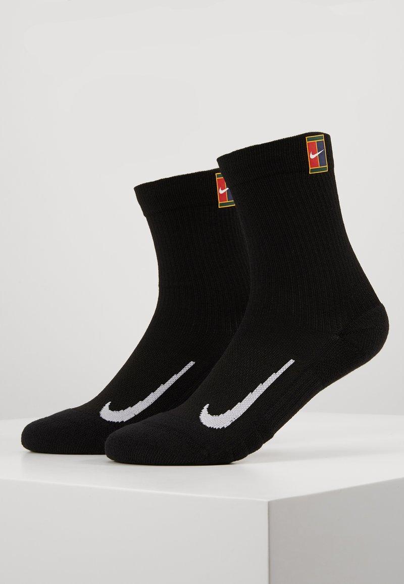 Nike Performance - COURT MULTIPLIER CUSHIONED 2 PACK UNISEX - Sportssokker - black