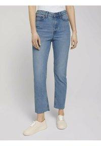 TOM TAILOR DENIM - Straight leg jeans - used mid stone blue denim - 0