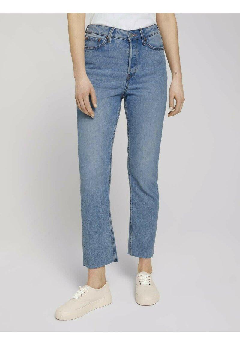 TOM TAILOR DENIM - Straight leg jeans - used mid stone blue denim