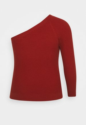 ONE SHOULDER - Long sleeved top - cinnamon