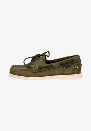 DOCKSIDES CRAZY HORSE - Boat shoes - green military